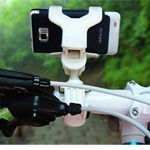 Motorcycle Bicycle Bike Holder Handlebar Cli Stand Mount For Cell Phone GPS - WHITE